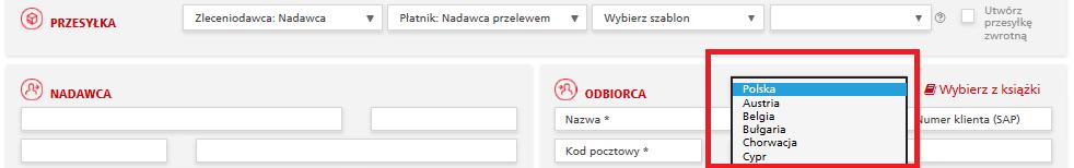 33ea64354e4de3 Jeśli mimo przypisanego do konta w aplikacji DHL24 numeru klienta (SAP), na  liście rozwijanej nad danymi odbiorcy nie ma innych państw niż Polska, ...